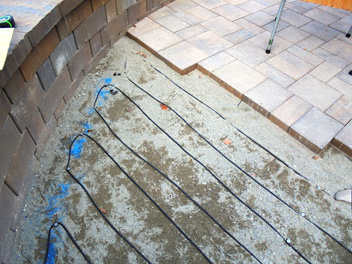 Pavers over Hott Wire