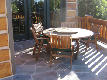 Heated Stone Deck