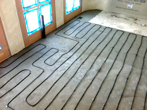 WarmQuest's Cozy Heat installed for floor heating in kitchen