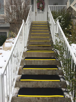 portable heated stair mats melt snow and ice