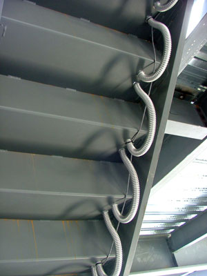 heated metal stair pans